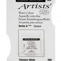acuarela - 130 015 009 - Artists Watercolour Half Pans Titanium White