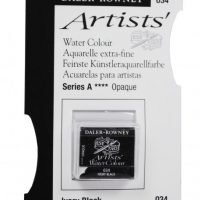 acuarela - 130 015 034 - Artists Watercolour Half Pans Ivory Black