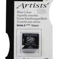 acuarela - 130 015 035 - Artists Watercolour Half Pans Lamp Black