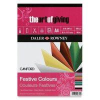 Bloc cu 32 de coli de hartie colorata in 8 culori Canford 150g in format A3 si A4 Festive Colours