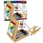 Set culori acrilice de 24 de piese cu sevalet pentru pictura Essentials