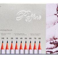 Set 12 creioane schite Marco Raffine in set cutie metalica