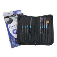 Set de calatorie creioane acuarelabile si pensule acuarela Aquafine