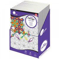 Carte de colorat Daler-Rowney Simply Art Therapy - Geometric large