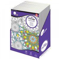 Carte de colorat pentru adulti gama Simply Daler-Rowney Art Therapy Kaleidoscope large