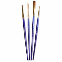 Set 4 pensule pentru acuarela Sapphire Classic