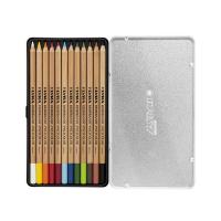 Cutie metalica cu creioane colorate Lyra Rembrandt Polycolor 12 piese