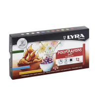 Set pasteluri Lyra Polycrayons Soft 12 piese
