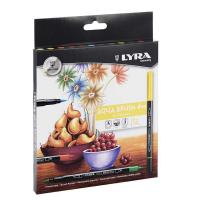 Markere acuarelabile Lyra Aqua Brush 12 piese culori vii