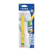 Set 2 creioane 2B LYRA TEMAGRAPH cu ascutitoare ideale pentru scris