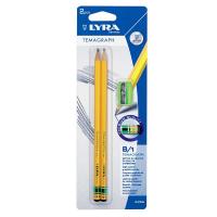 SET 2 creioane HB pentru desen LYRA TEMAGRAPH cu ascutitoare