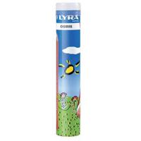 Set 12 creioane colorate ergonomice LYRA in tub de metal
