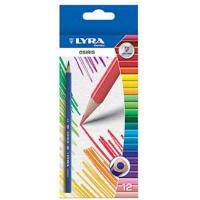 Set 12 creioane colorate Lyra Osiris - creioane triunghiulare in culori stralucitoare