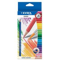 Set 12 creioane acuarelabile solubile in apa LYRA OSIRIS ergonomice