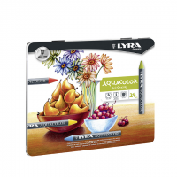 Set 24 creioane acuarelabile LYRA Aquacolor culori pigmentate