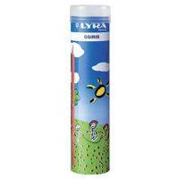 Set 24 creioane ergonomice colorate LYRA in tub de metal