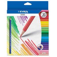 Set 24 creioane colorate Lyra Osiris - creioane triunghiulare ergonomice