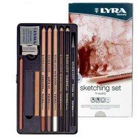 Set cutie metalica Lyra Rembrandt Sketching Set creioane si accesorii