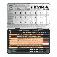 Set profesional cutie metalica Lyra Rembrandt Art Specials 12 creioane