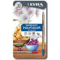 Set cutie metalica Lyra Rembrandt Polycolor 12 creioane colorate