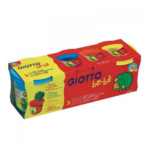 Set plastilina colorata 3x220g Giotto Bebe