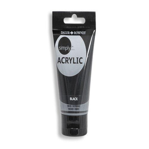 Culori acrilice negru