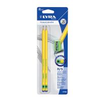 Set 2 creioane H LYRA TEMAGRAPH cu ascutitoare IDEAL PENTRU SCRIS