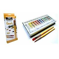 Set pictura guase 12x12ml Royal Langnickel cu 2 pensule