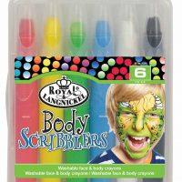 Set 6 creioane pentru pictura fata si corp in culori stralucitoare