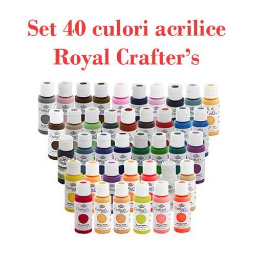 set 40 de culori acrilice Royal Crafter's
