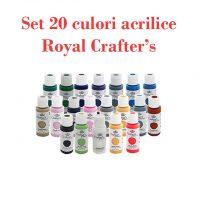 set 20 de culori acrilice Royal Crafter's tuburi de 59
