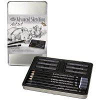 graphite sketching small tin art set grafit pentru schite si desen
