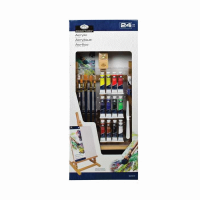 Set culori acrilice de 24 de piese cu sevalet MEDIU pentru pictura Essentials