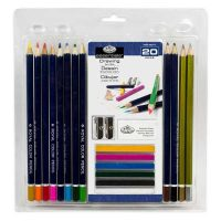 Set creioane colorate 20 piese Royal