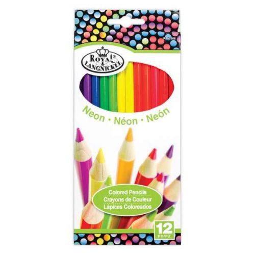 Set 12 creioane neon Royal