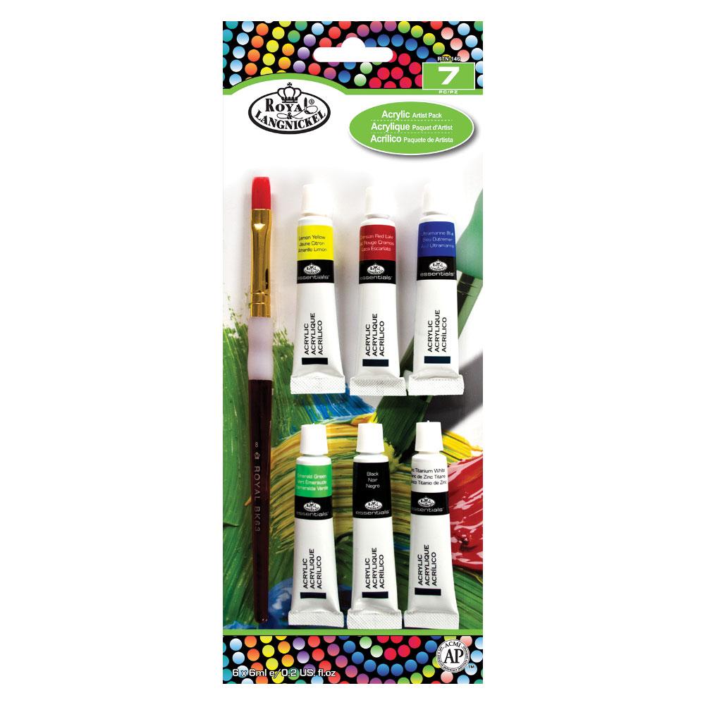 Set pensule pentru culori acrilice