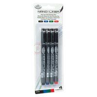 Set 4 Nano-Liner Royal & Langnickel - grosime 02 - diferite culori