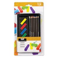 Set cutie metalica creioane pastel Royal & Langnickel