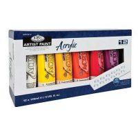 Set culori acrilice profesionale 12x120ml Royal & Langnickel pentru pictura