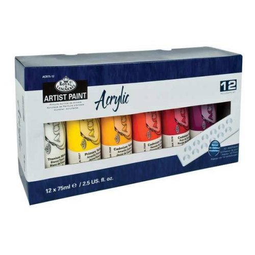 Set culori acrilice 12x75ml Royal & Langnickel