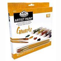 Set culori guase 18x12ml Royal Langnickel cu 2 pensule