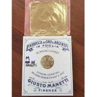 Set 100 foite schlagmetal Giusto Manetti - auriu