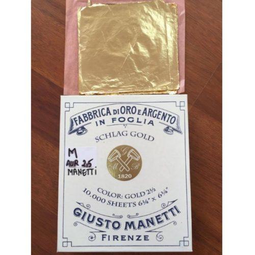 Foita schlagmetal Giusto Manetti - auriu