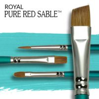 Pensule pentru acuarela Royal Pure Red Sable USA