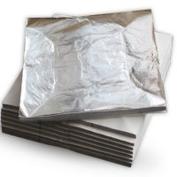 Schlagmetal argintiu Divolo – set 100 foi – 16×16 cm