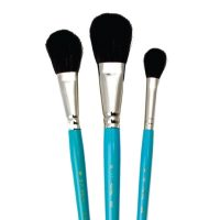 Set 3 pensule mop fir natural Camel pentru acuarela Royal Brush