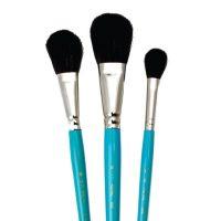 Set 3 pensule mop fir natural Camel pentru acuarela Royal Brush