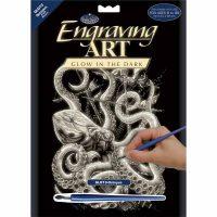 Set gravura Royal Glow in the Dark engraving Octopus