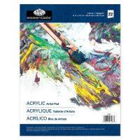 Bloc hartie pictura culori acrilice Royal & Langnickel 200g