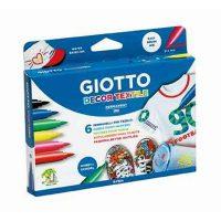 Set 6 carioci Giotto Decor Textile pentru decorarea textilelor
